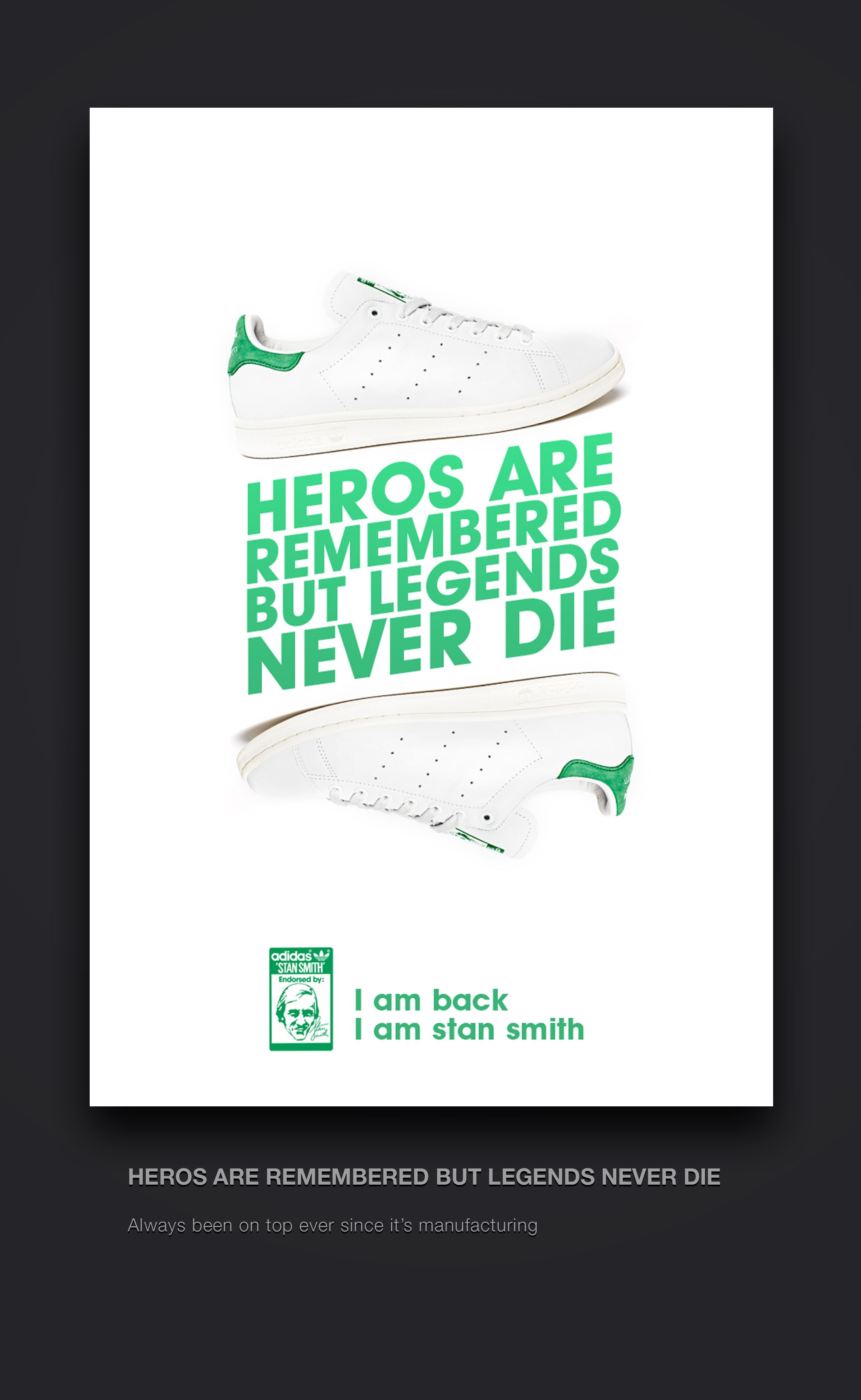 Adidas shoes poster (stan smith) by ShoaibPrasad