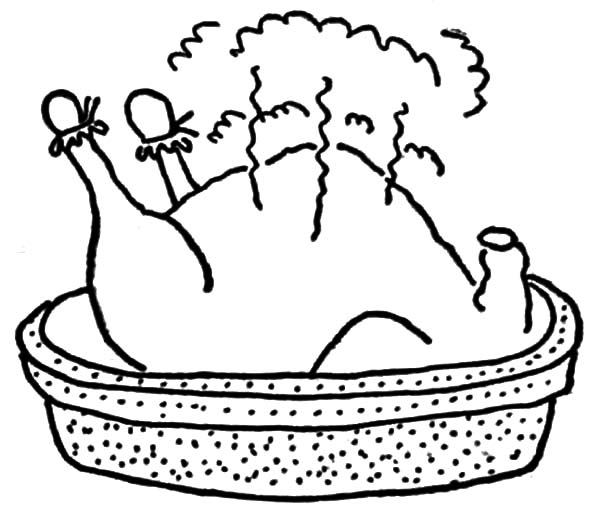 Coloring Page Chicken Nugget