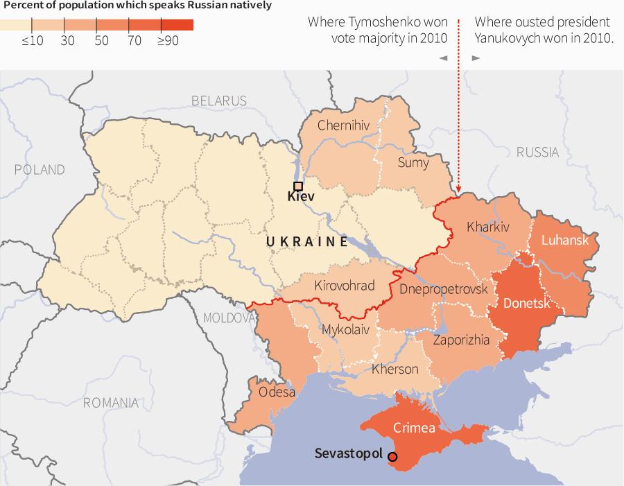 Explained Ukraine conflict in maps Ukraine Division and Civilization