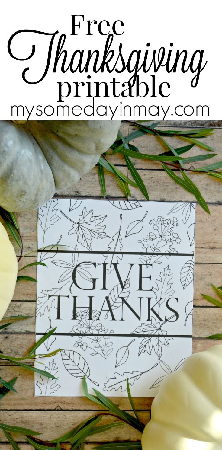 Free Thanksgiving printable give thanks! | Anything & Everything DIY ...
