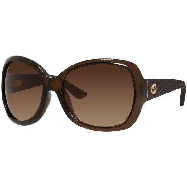 79c44256b98 Gucci Oversized Diamantissima Square Sunglasses ( 270) ❤ liked on Polyvore  featuring accessories