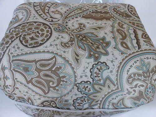 Bella Lux Paisley 6pc Queen Comforter, Bella Lux Fine Linens Bedding