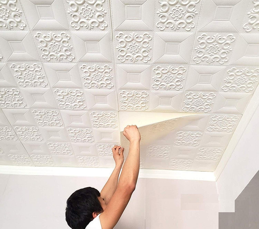 Buy Nasmodo® 3D Ceiling Tiles Panel Vinyl Wallpaper