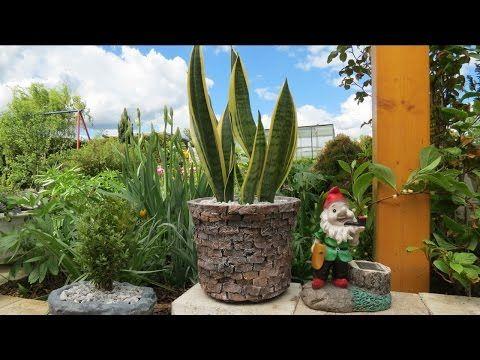 blumentopf aus beton in steinoptik selber basteln youtube meu jardim blumenk bel beton. Black Bedroom Furniture Sets. Home Design Ideas