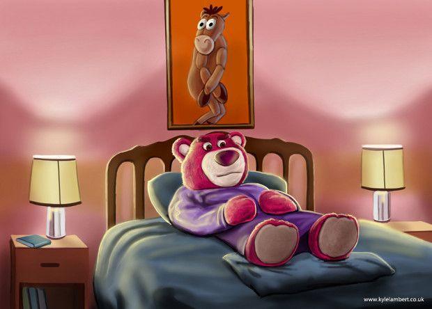 Lots O Huggin Bear Makes An Appearance Intoy Shining Kyle Lambert S Toy Story Mashup Ipad Painting The Shining Horror Movie Clothing Ipad Painting