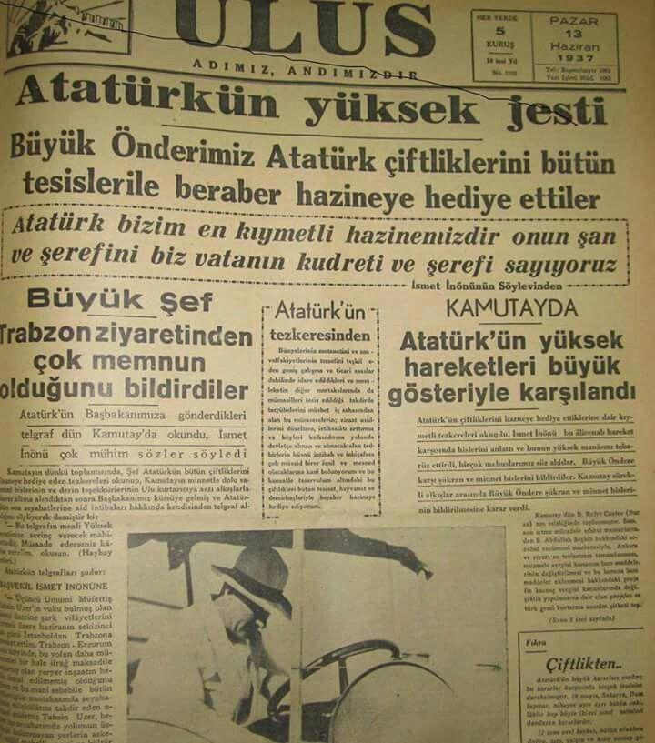 13 Haziran 1937 Ataturk Un Ulkeye Kattigi Degerler Event Event Ticket