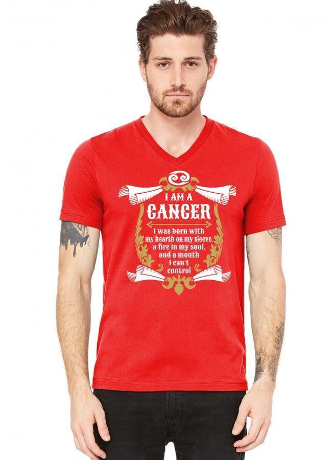 I Am A Cancer V-Neck Tee