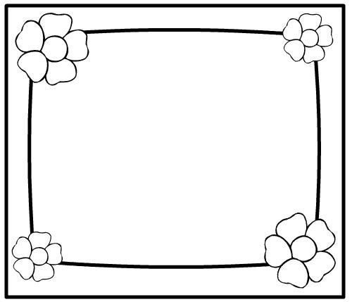 Flower Frame Coloring Coloring Pages Flower Frame Free Coloring Pages