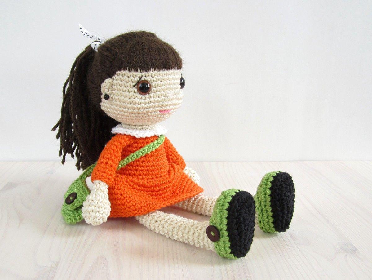 crochet de patrón de ganchillo amigurumi | muñeca 1 | Pinterest ...
