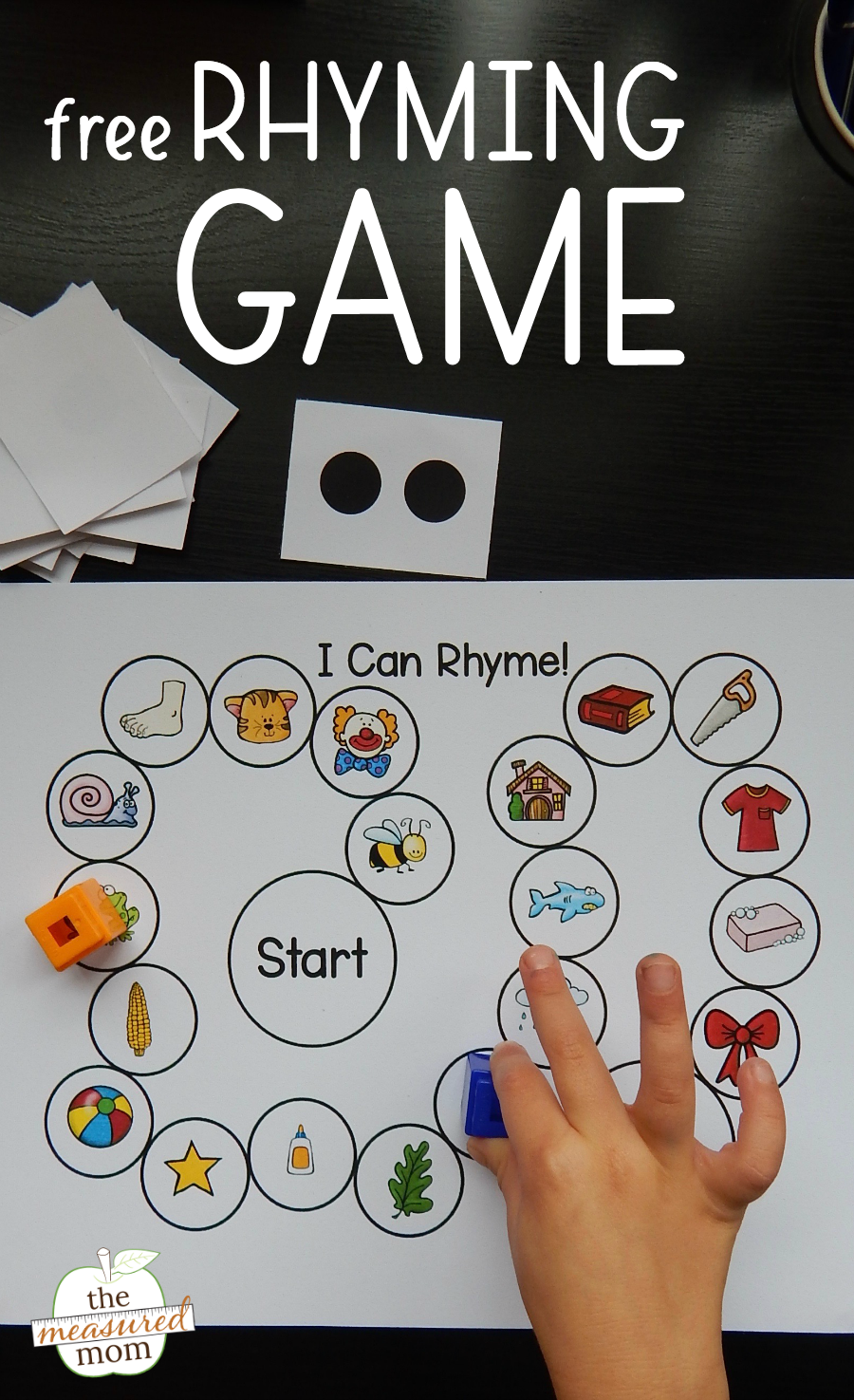 Simple rhyming game - The Measured Mom