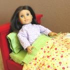 """Farmhouse Bed for American Girl or 18"""" Dolls"""