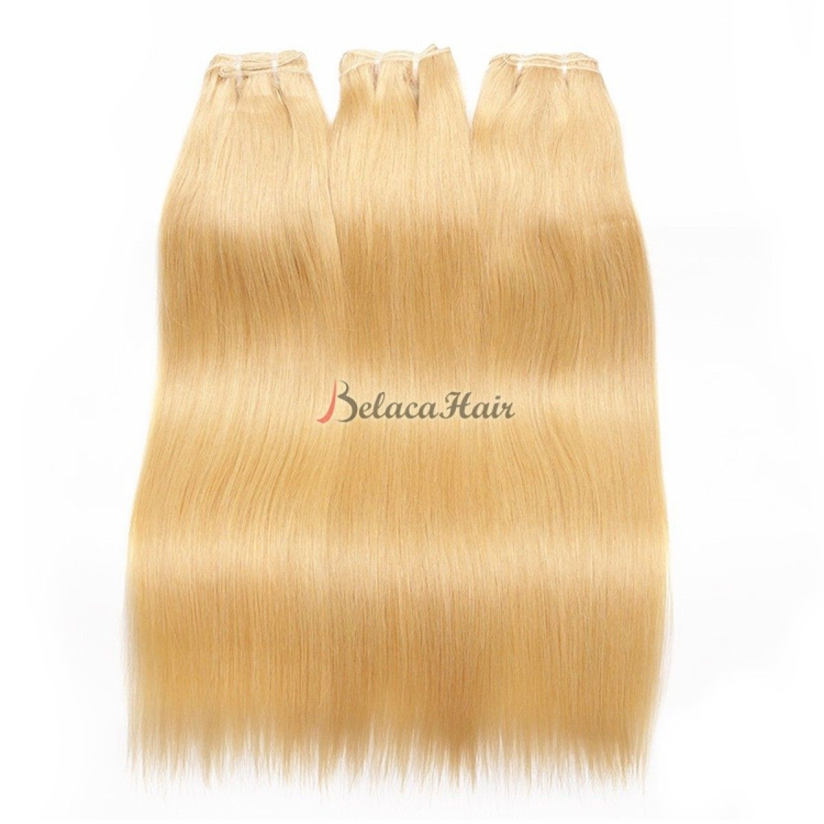3 Bundles Blonde Human Hair Straight Color 613 Virgin Hair 4