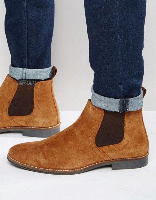 ClothesShoes Tan Red Tape SuedeMen's Boots Chelsea f76mIYvbgy