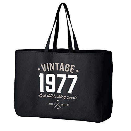 40th Birthday 1977 Keepsake Funny Gift Gifts For Women Novelty Ladies Female Looking Good Shopping Bag Present Tote