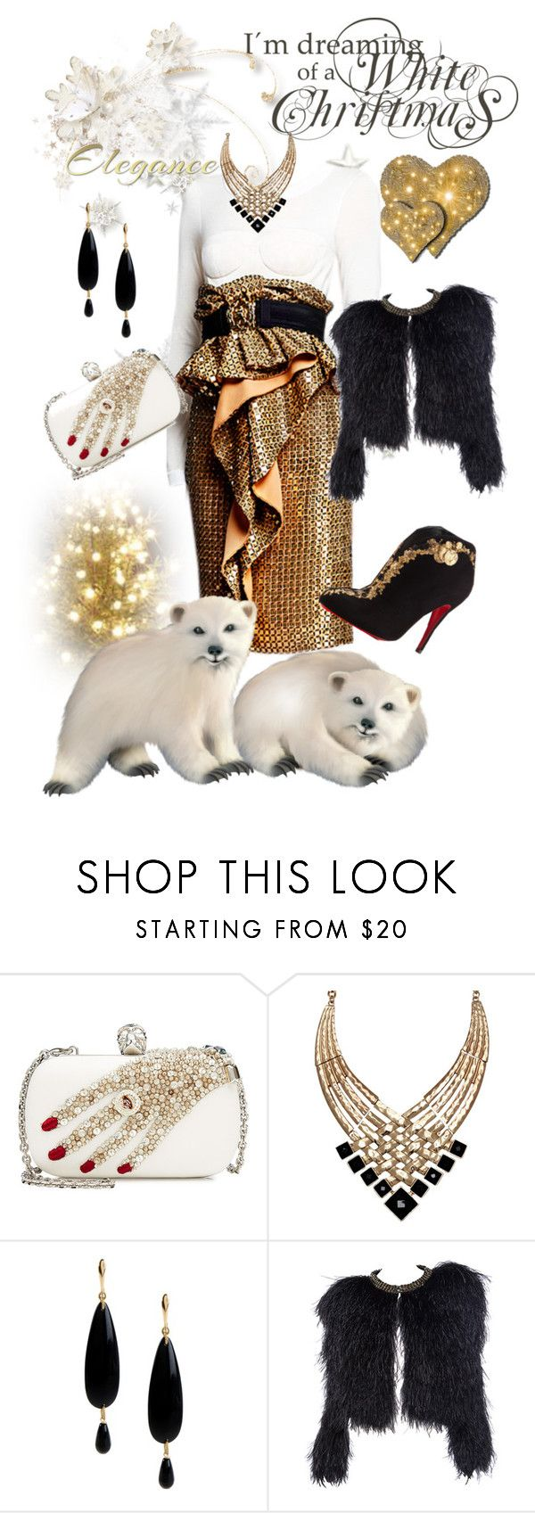 """My Sparkle"" by belinda54-1 ❤ liked on Polyvore featuring Alexander McQueen, ALDO, NUR and Christian Louboutin"