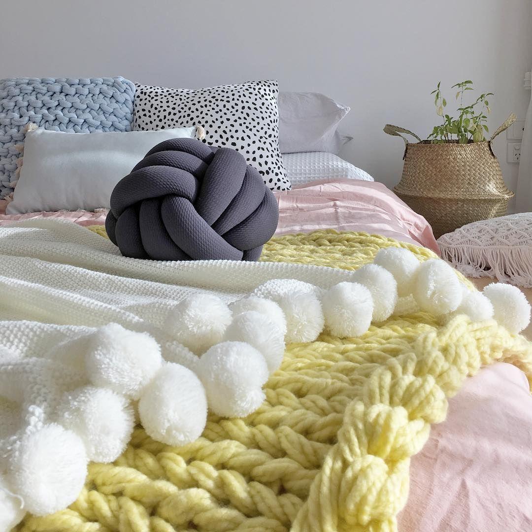 Stylingbytiffany on instagram uct e x t u r e bedroom knot cushion