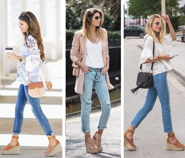 Chloe Espadrille Wedges Outfits