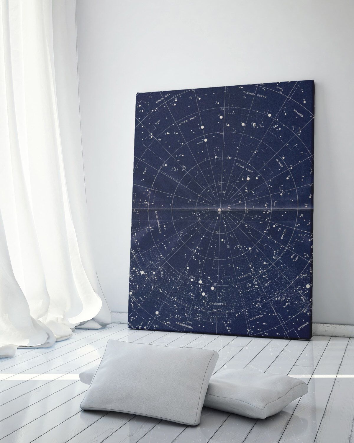 Canvas Wall Art Constellation Map Vintage Star Map Star Chart Constellation Print Night Sky Print Custom Star Map Astronomy Print Constellation Wall Art Inspirational Wall Art Canvas Wall Art