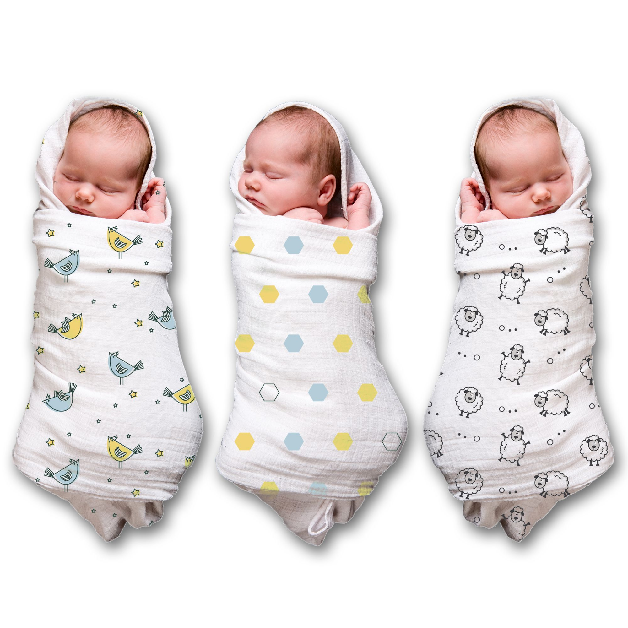 How To Swaddle A Baby With A Blanket Endearing Spranster Muslin Swaddle Blankets For A Baby Boy & Girl 3 Pack 100 Design Ideas