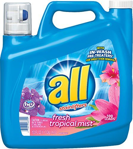 All Ultra Fresh Tropical Mist Liquid Laundry Detergent 150 Fluid