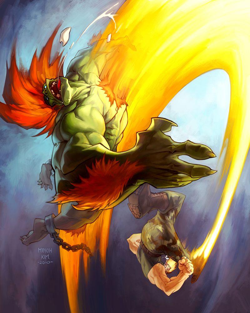 Guile Vs Blanka By Minohkim On Deviantart Street Fighter Art