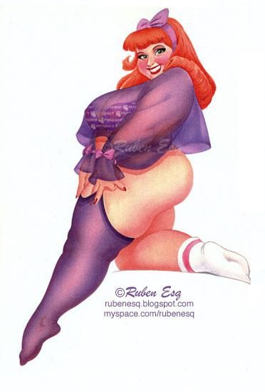 girls Sexy cartoon fat