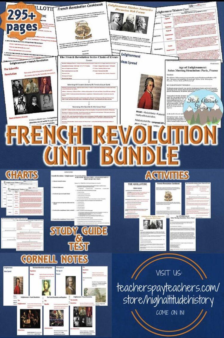 French Revolution Unit French Revolution Homeschool Lesson Scientific Revolution