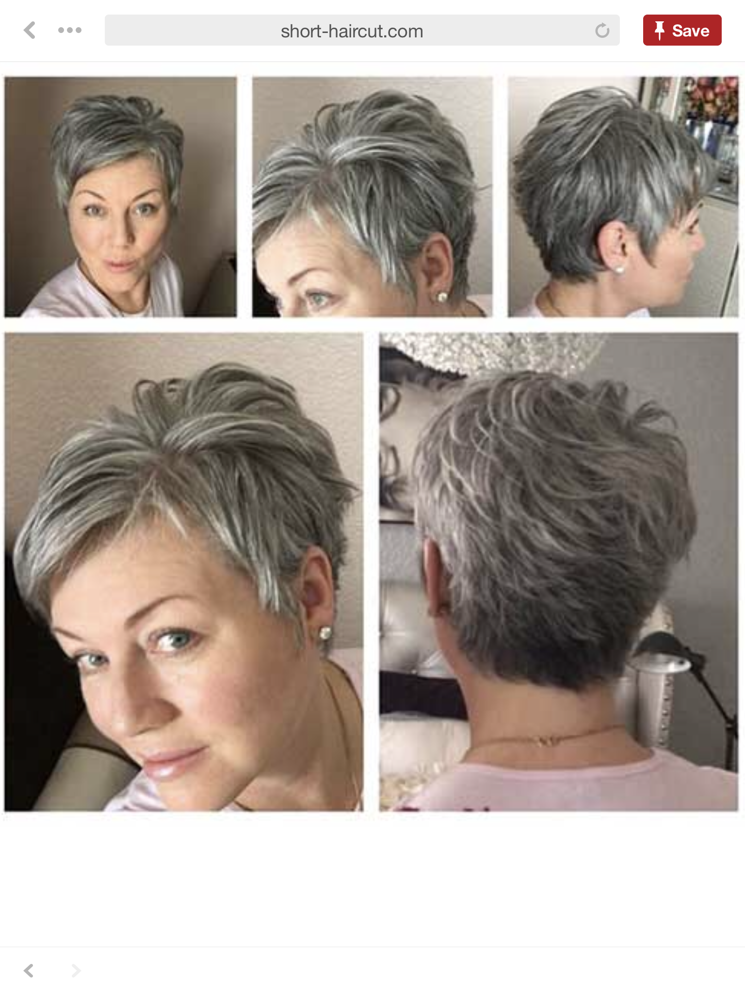 Pin by Elizabeth Clements on Short grey haircuts  Short hair