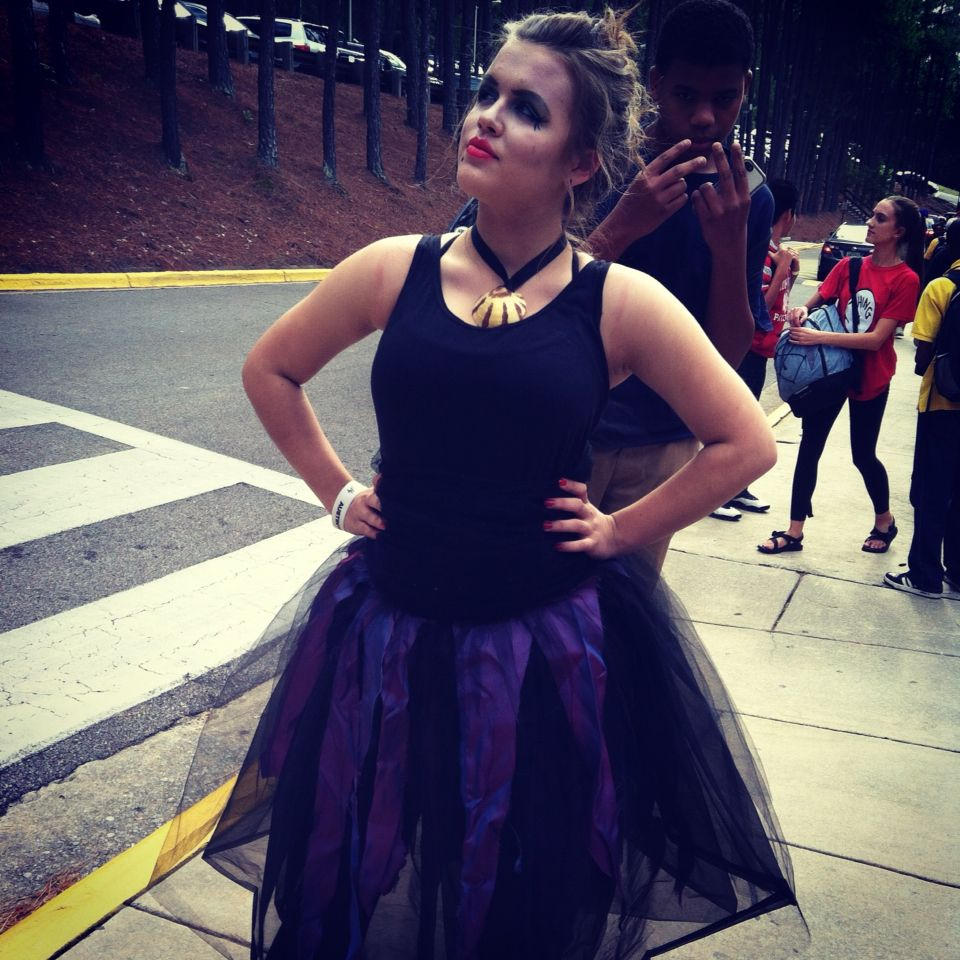 Easy diy ursula costume from an old ballet outfit hocomonday easy diy ursula costume from an old ballet outfit hocomonday solutioingenieria Images