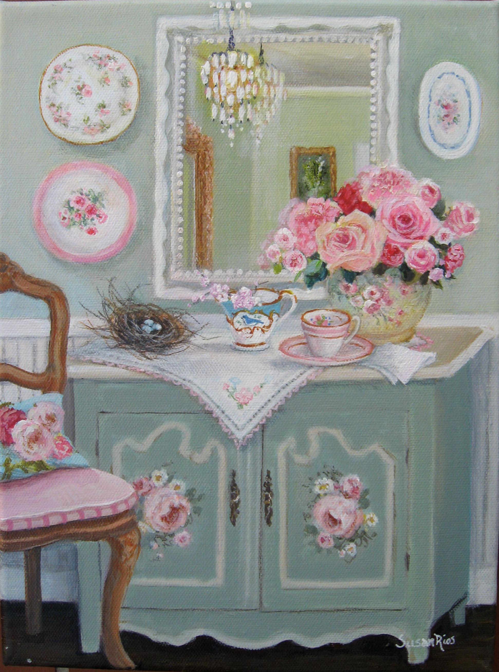 Susan Rios Vintage Treasures A New Painting I Did