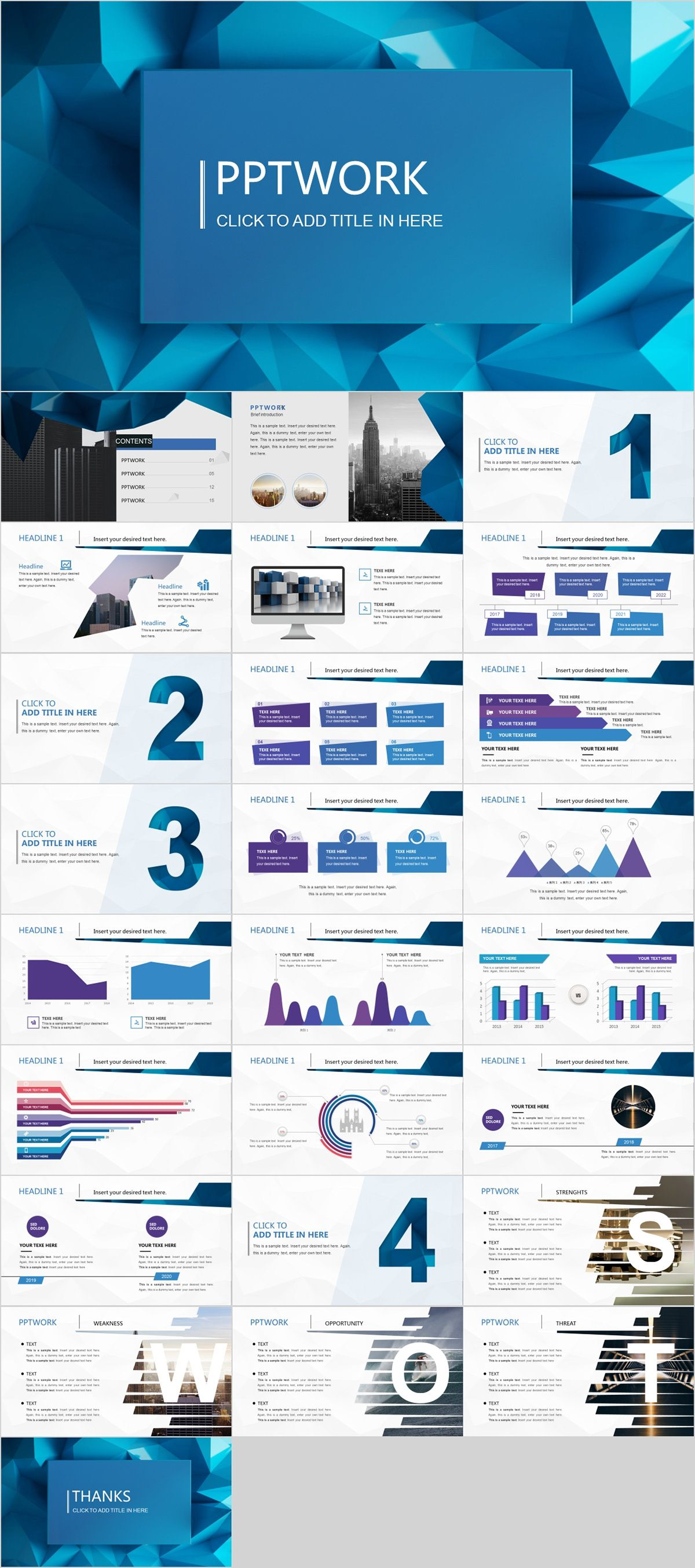 26 best blue summary report powerpoint template powerpoint