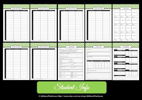Teacher Planner Printable Editable Planner Chevron Instant