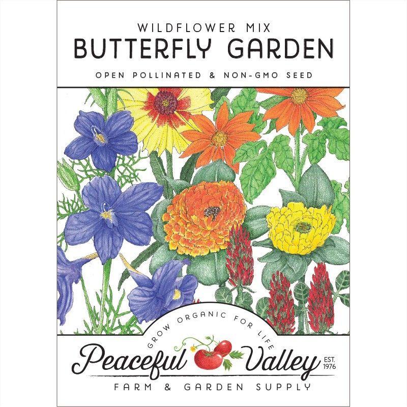 Butterfly Garden Wildflower Mix Pack Butterfly Garden Wildflower Seeds Wild Flowers