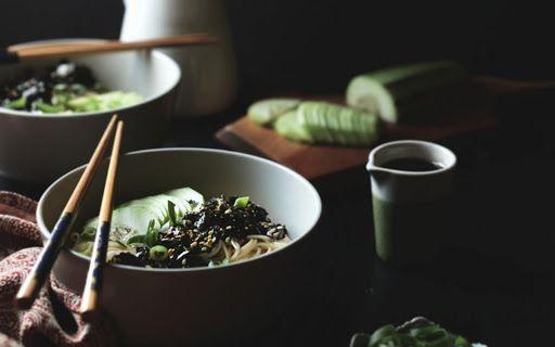 Somen Noodles With Nori Dressing [Vegan] vegansushi #veganvegetarian #vegetarianrecipes #veganfood #easyvegandinner #japanesedishes #japanesefood #veganlife #veganrecipeseasy