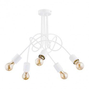 Lampa Wiszaca Tango 5 X 60 W E27 Biala Lampy Wiszace Pendant Lamp White Pendant Lamp Lamp