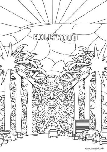 Creative Sights Hollywood Coloring Pages Printable Adult