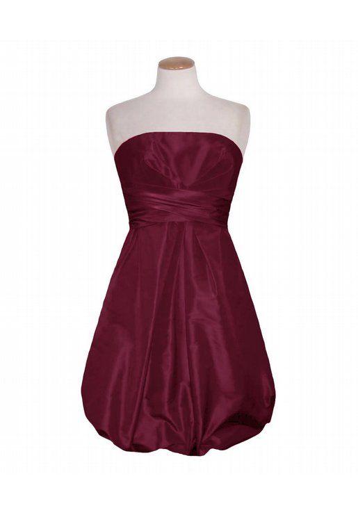 Super cute plus size Merlot Strapless Bubble Dress | Dresses ...