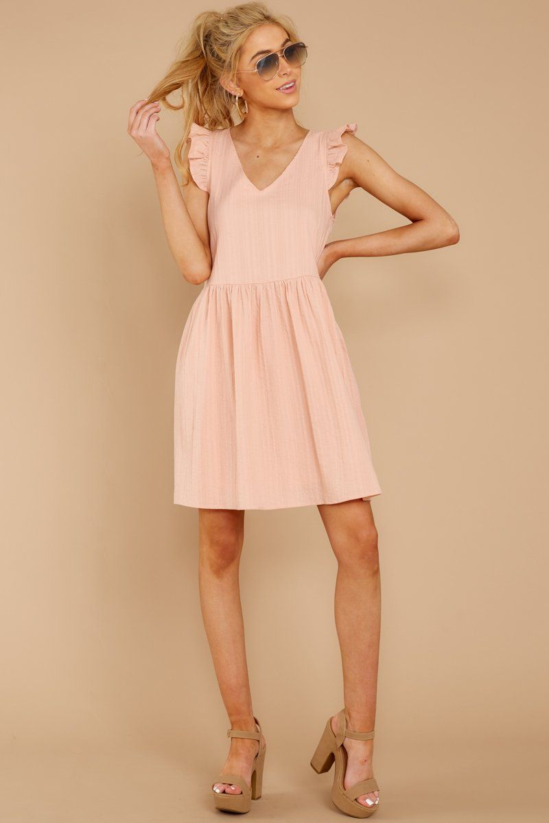 62bb4d02226 Lovely Pink Ruffled Sundress - Short Sleeveless Dress - Dress -  46.00 –  Red Dress Boutique