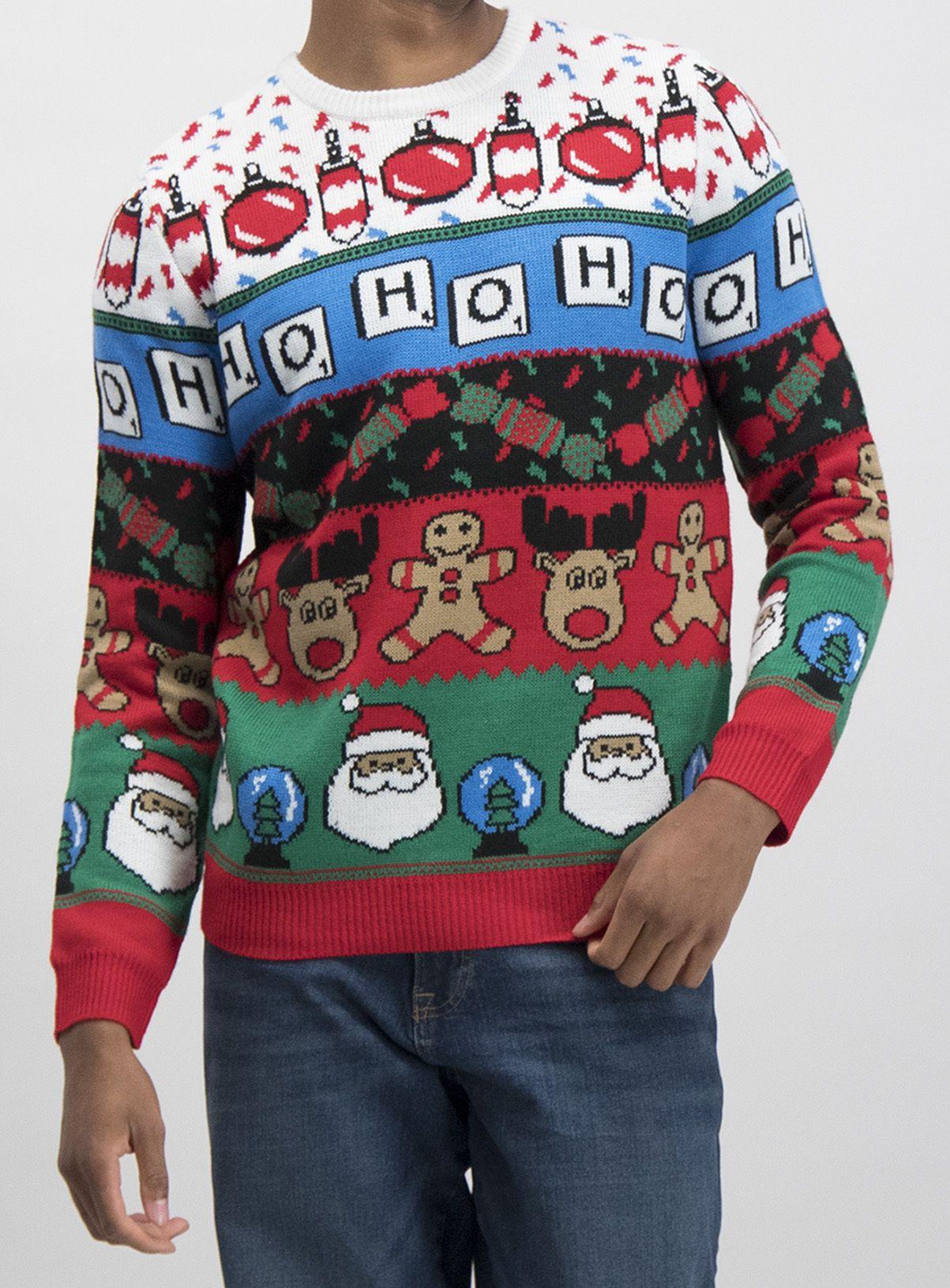 Christmas Multicoloured Novelty 'Ho Ho Ho' Jumper in 2020