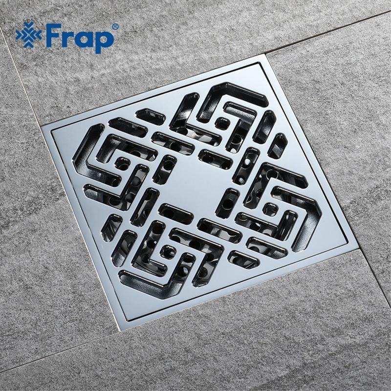 Frap Bathroom Floor Drain Square Bathroom Kitchen Floor Drain Cover Strainer Deodorant Linear Bathroom Floor Drains Cov Floor Drains Bathroom Flooring Flooring