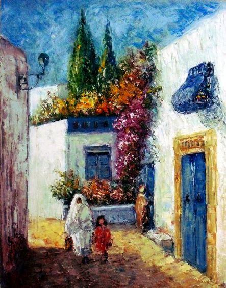 Image Du Tableau Peinture Tunisiennes De Elassaly Peinture
