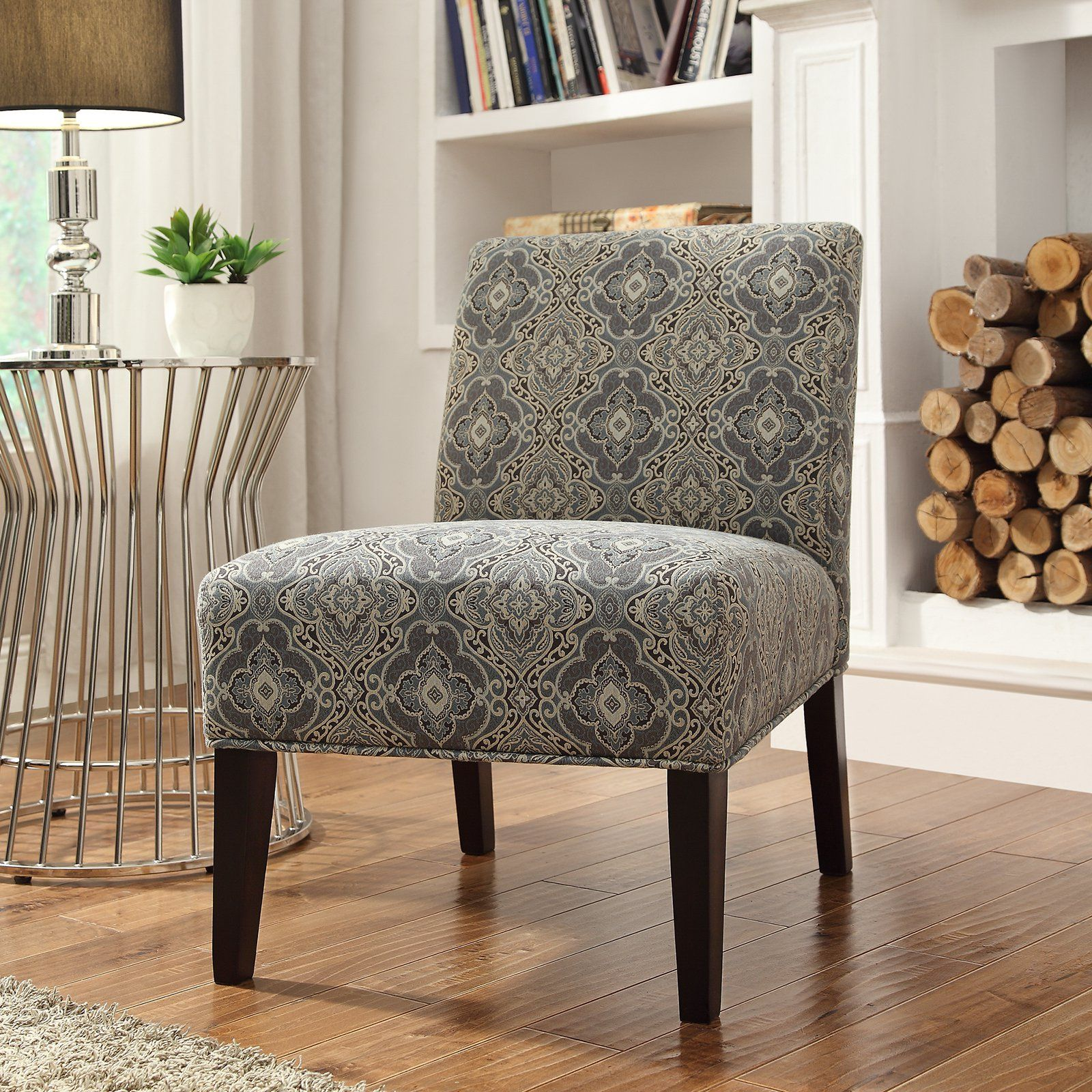 Inspire Q Blue Print Fabric Lounger Chair - Rich Espresso | from  hayneedle.com