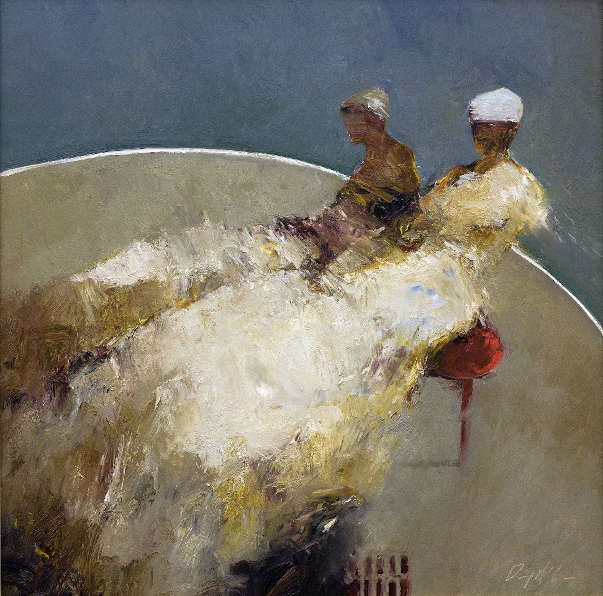Danny McCaw, 'Red Chair', 24 x 24, Oil on Panel