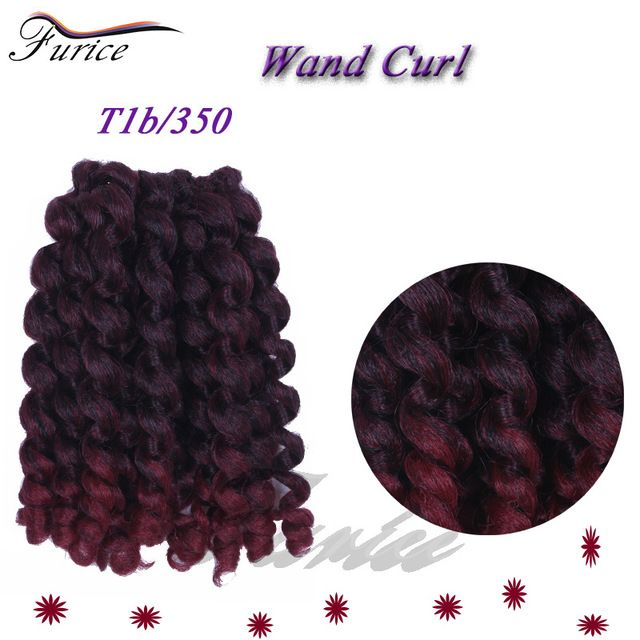One Pack Cheapest Jumpy Wand Curl Twist Jamaican Bounce Twist Braid Hair Extension 8inch Ombre Havana Mambo Twist Crochet