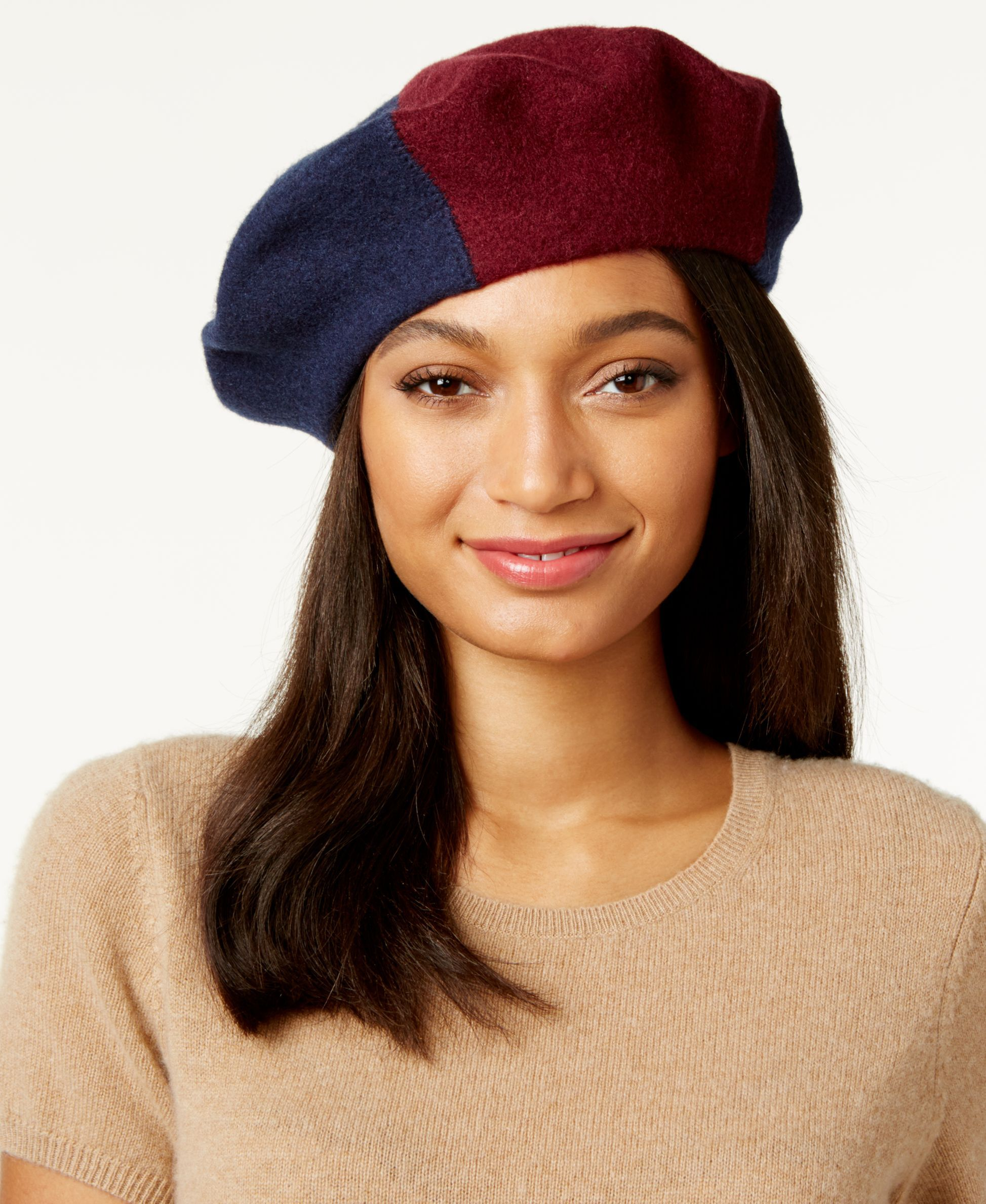 1cba55e086b6b Inc International Concepts Colorblock Beret