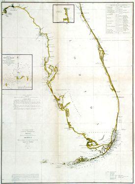 Coastal Survey Map of Florida, 1855