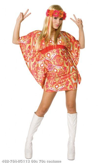 Flower power costume adult costumethis retro hippie is totally far out includes also yzcosplay yzsypmka on pinterest rh