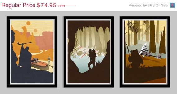 20 PERCENT OFF Star Wars Original Trilogy Poster by LynxCollection, $59.96