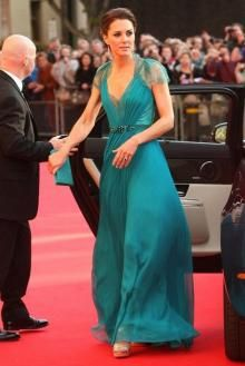 kate middleton green dress on boa olympic concert chiffon evening formal  gown fbcf4d42371c