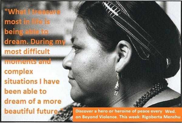 An inspiring quote from Rigoberta Menchu | Biografía, Mujer